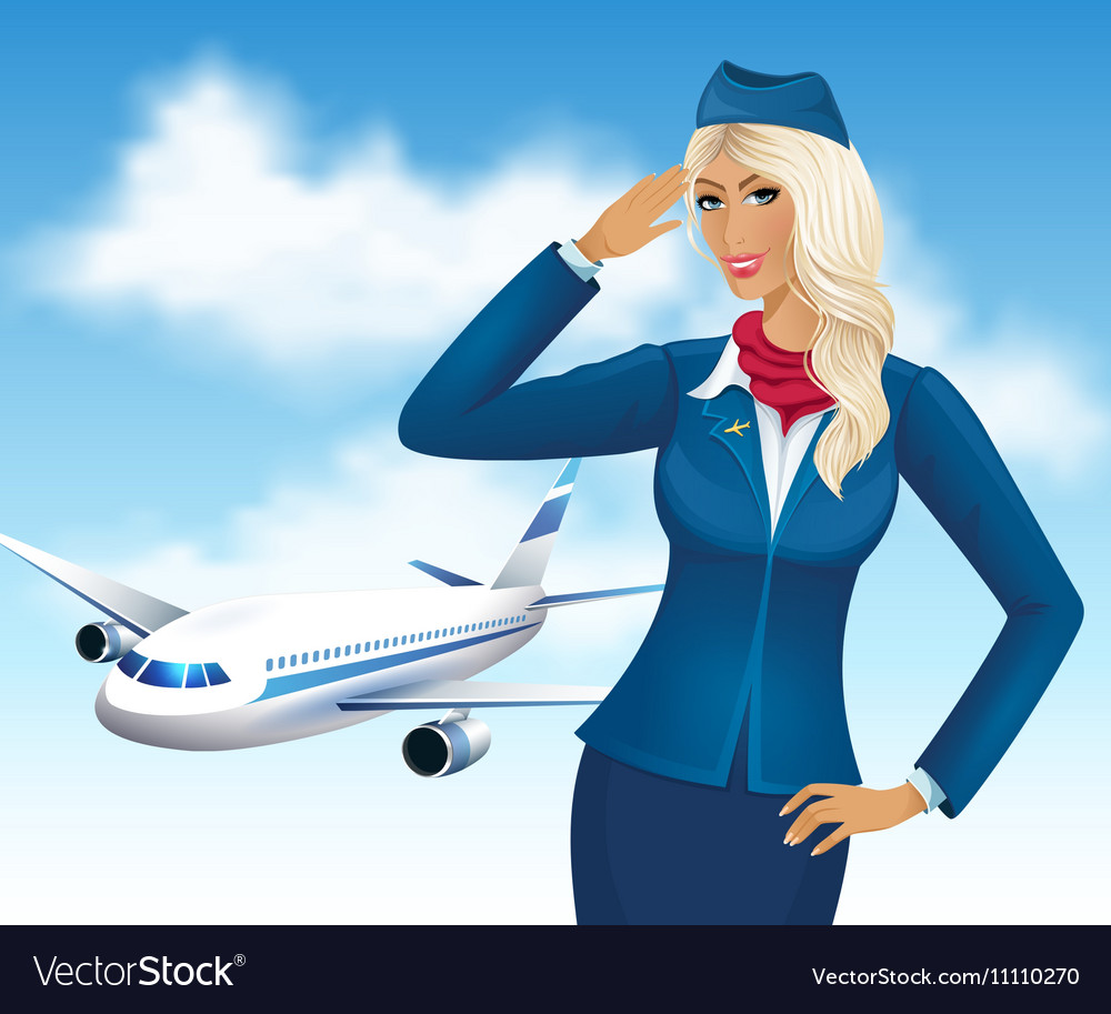 Картинки стюардесса и самолет нарисовать, открытка