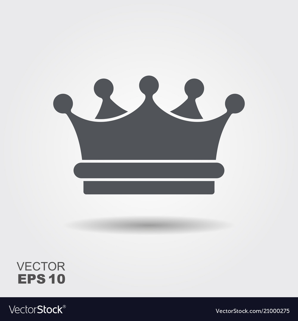 A crown in flat design style