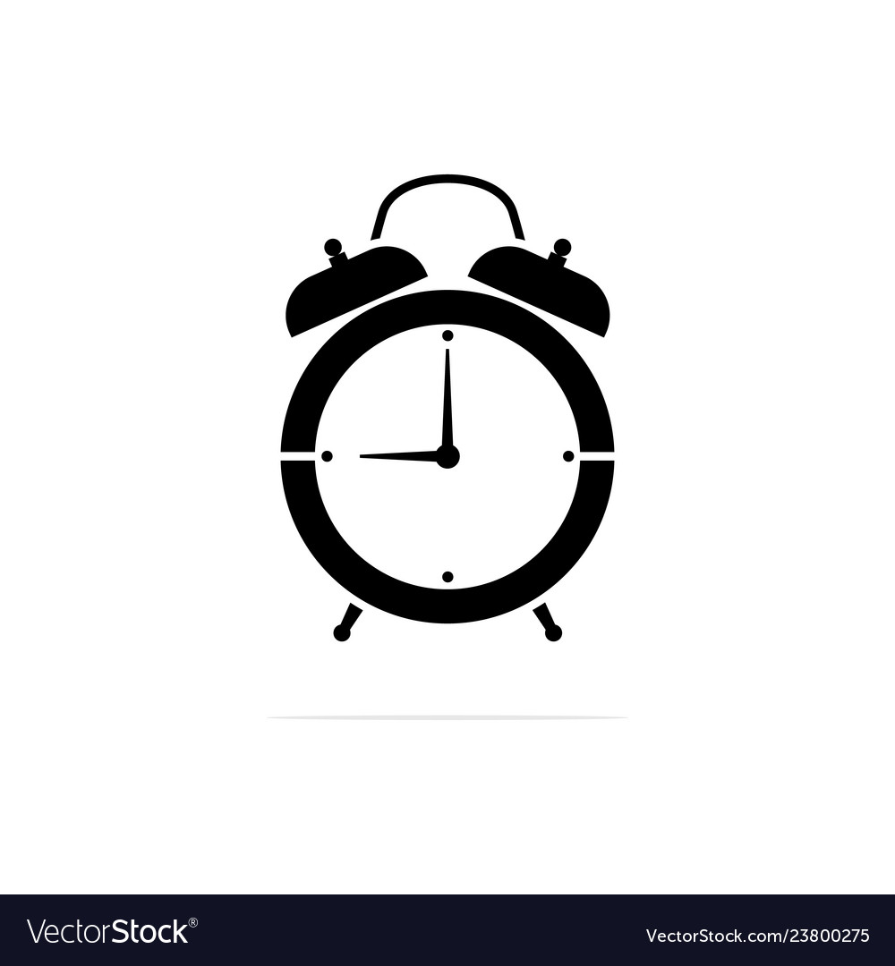 Alarm clock icon concept for design