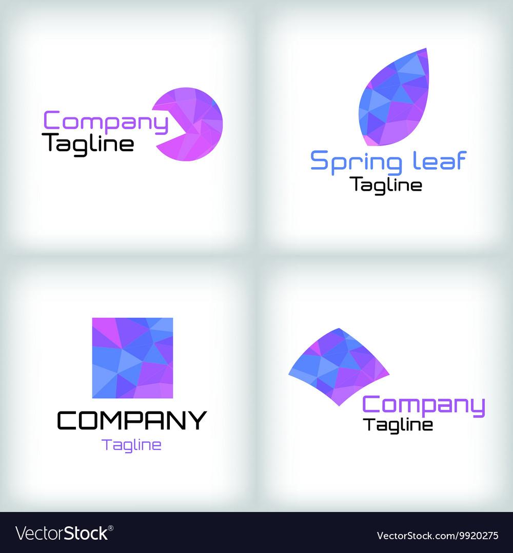 Business icons set Logo design