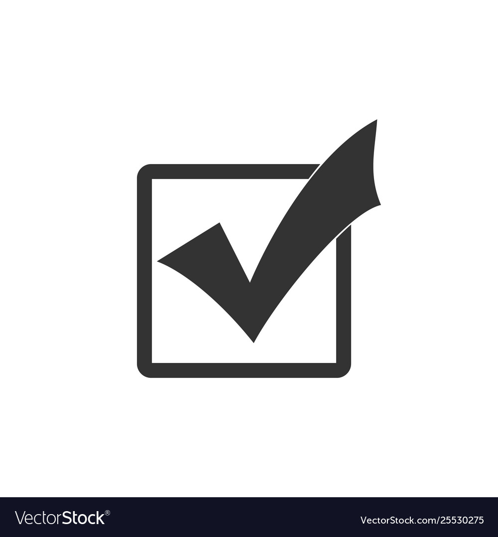 Check mark in a box icon isolated tick symbol Vector Image on ✔  id=81786