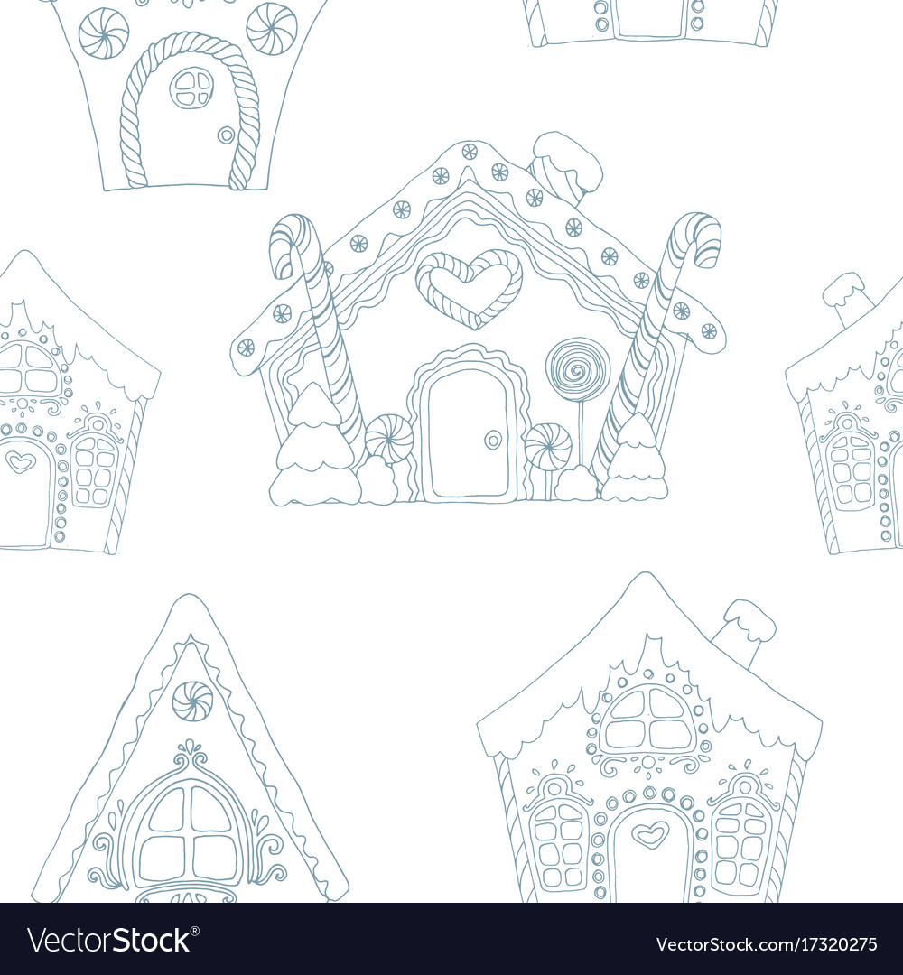 christmas coloring pages pattern vector image
