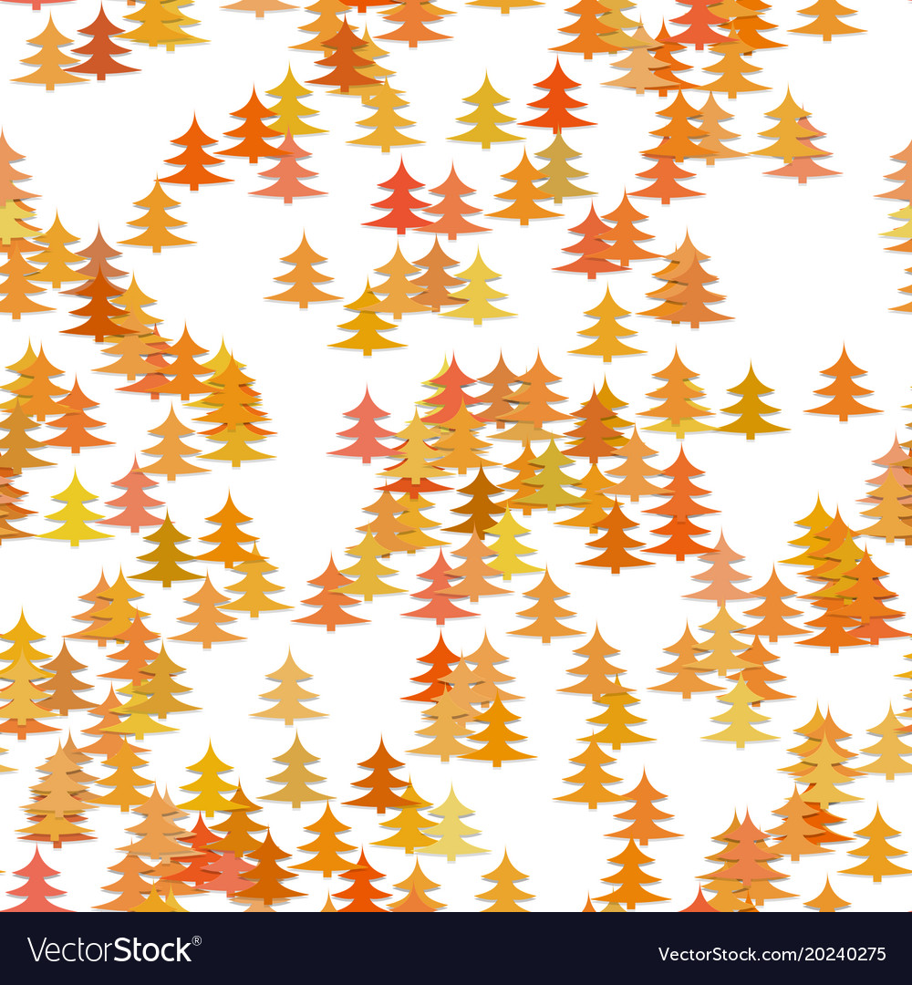 Colored random pine tree background - winter