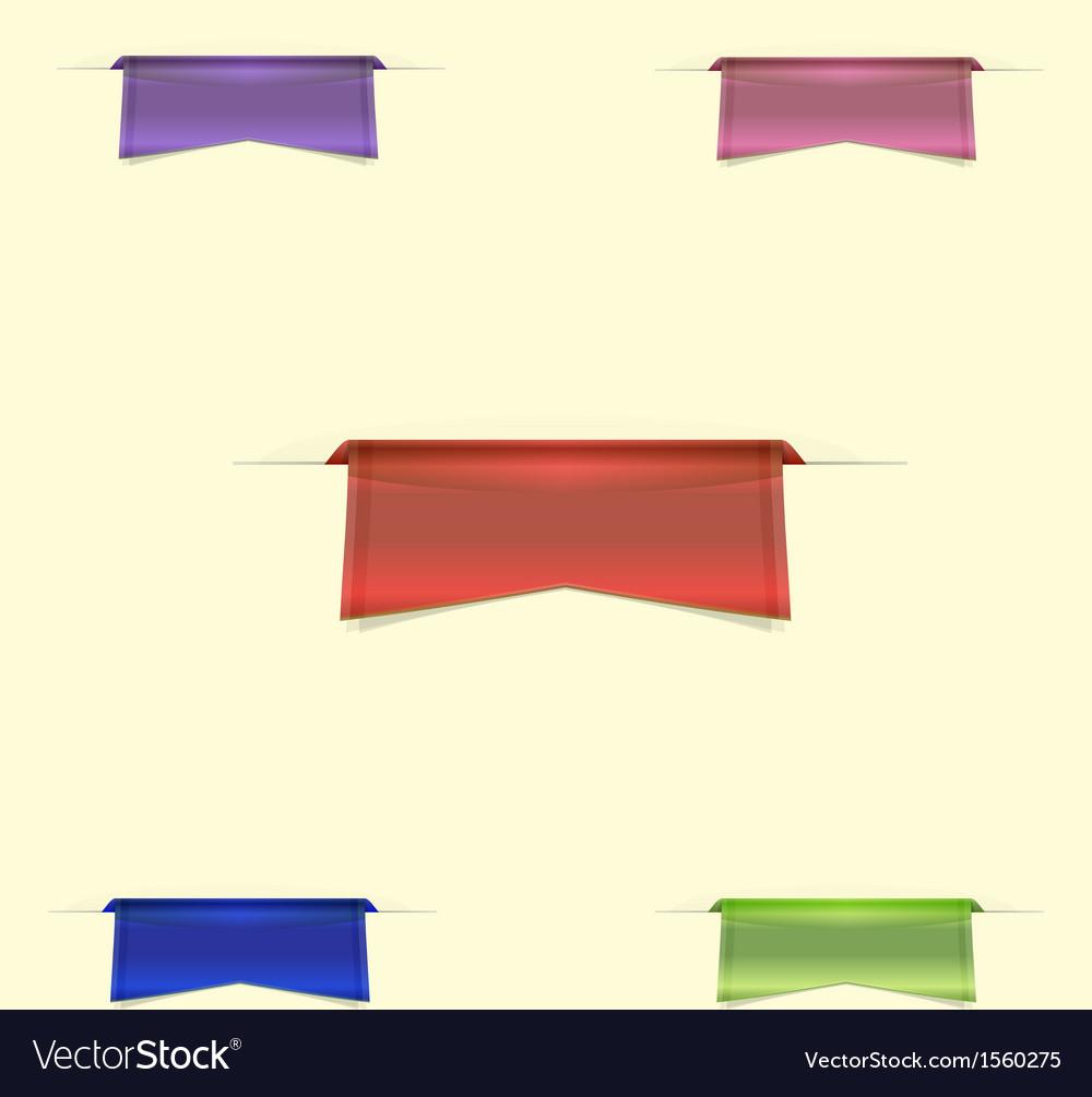 Colorful sleek web ribbons on yellow background