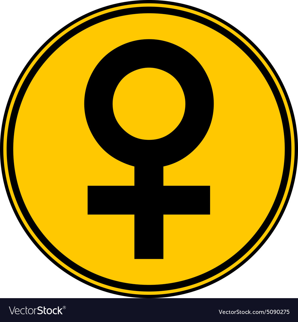Gender Female Symbol Button Royalty Free Vector Image