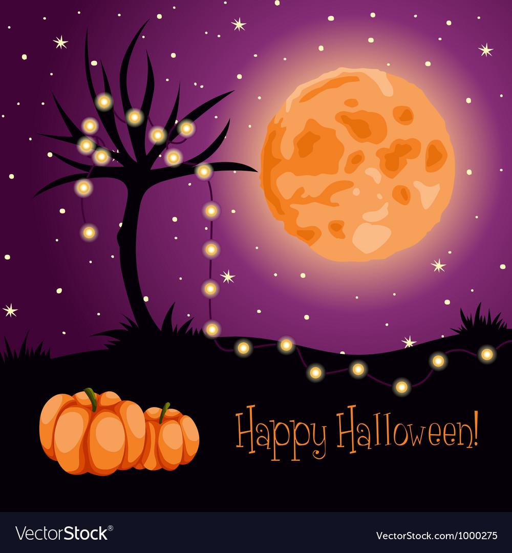 Halloween moon tree lights