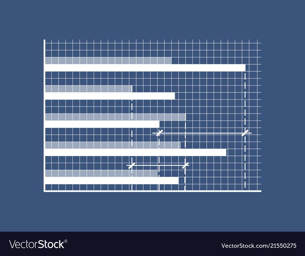 Horizontal bars on minimalistic in coordinate