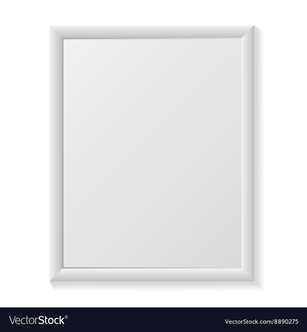 Poster realistic Mockup vector image