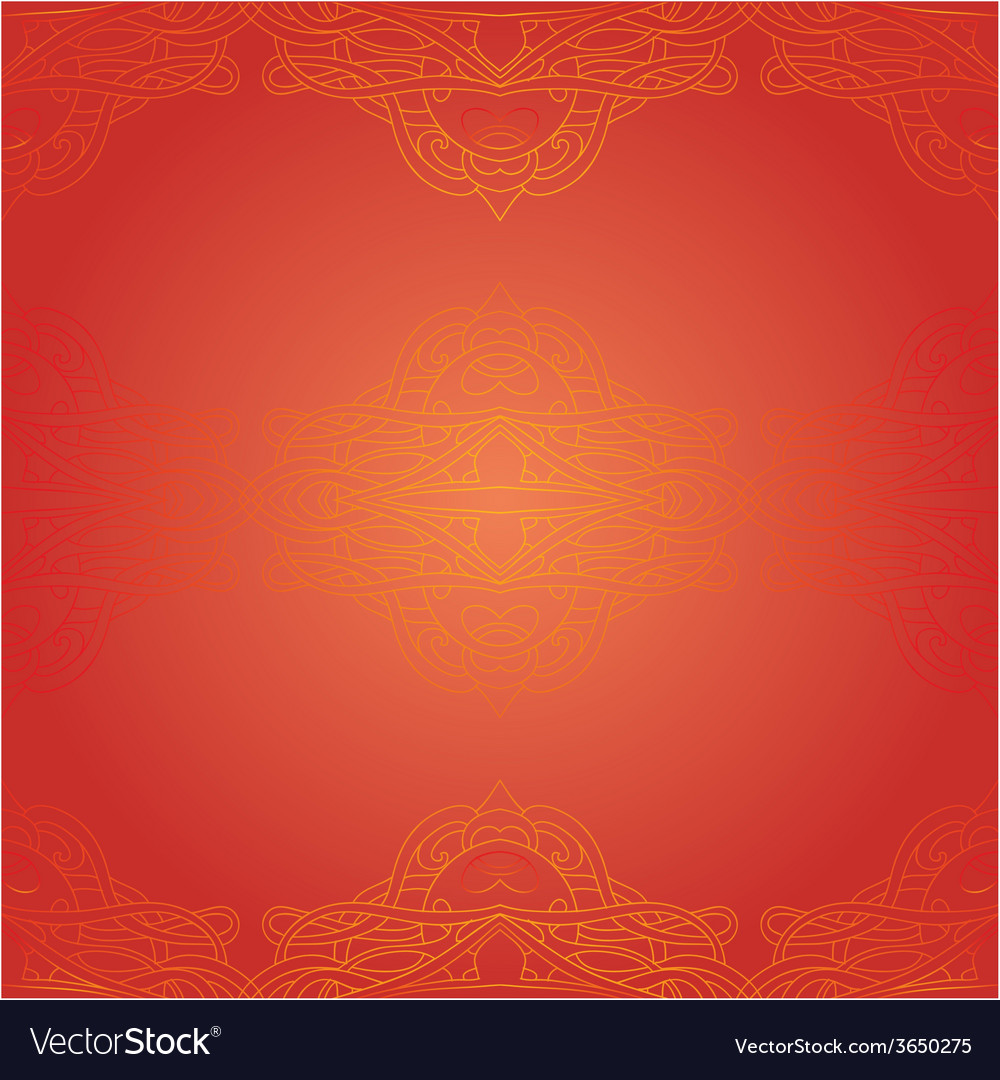 Seamless red ethnic pattern
