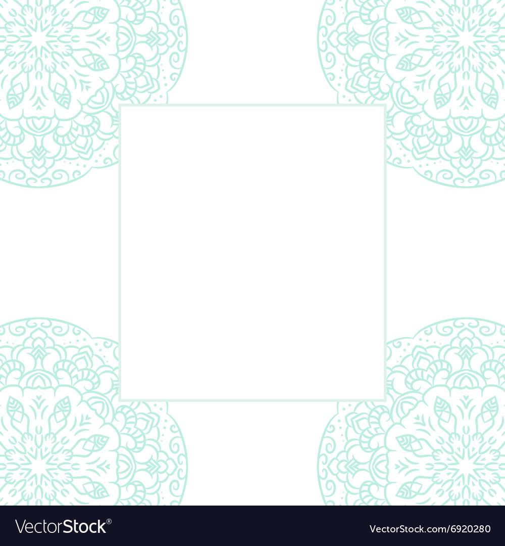 Baby blue mandala card template background