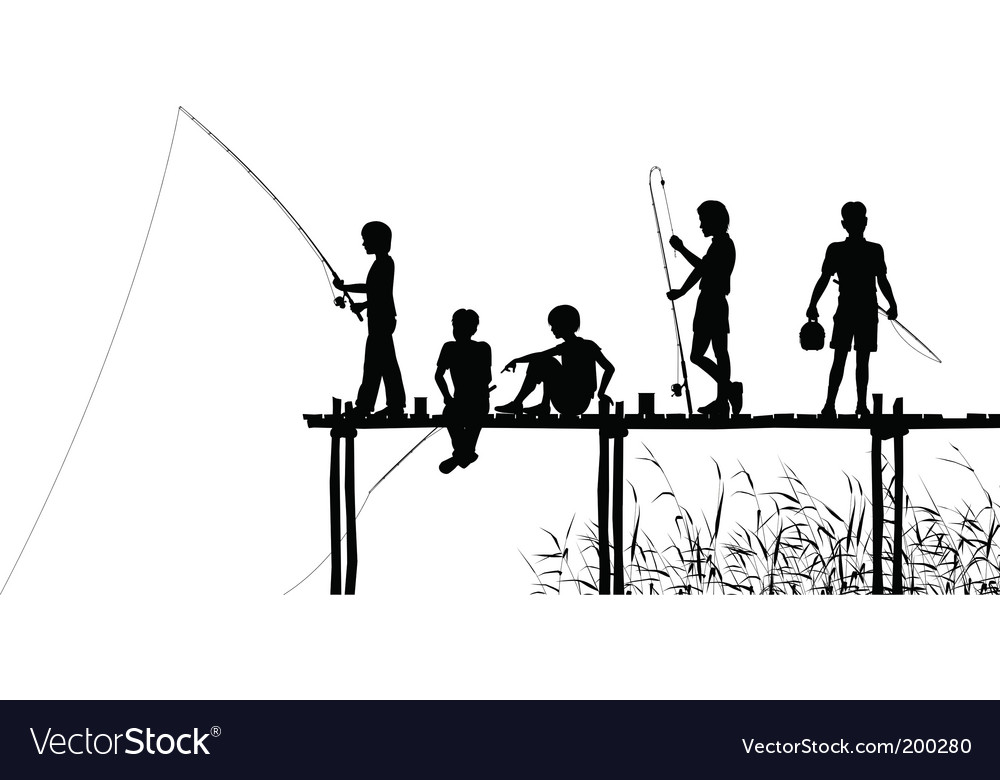 Fishing jetty vector image