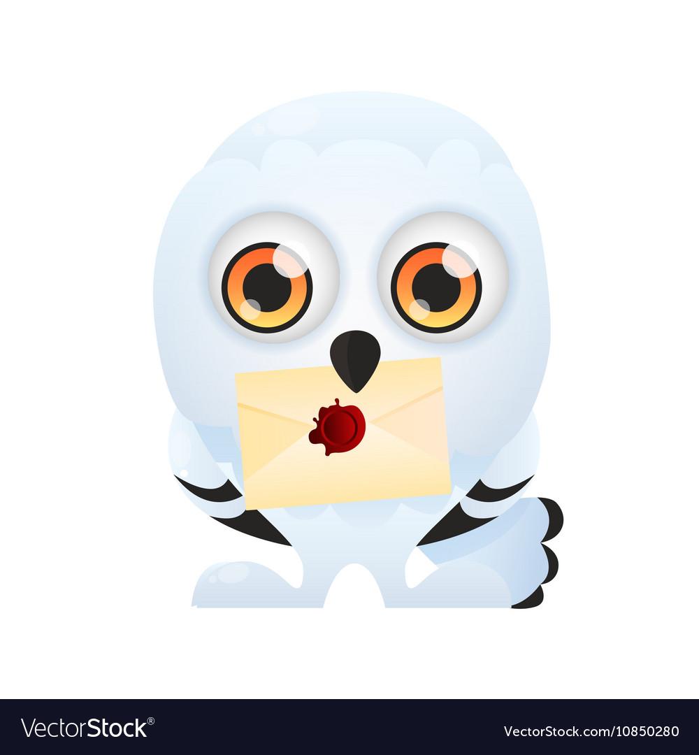 White owl keeps invitation royalty free vector image white owl keeps invitation vector image stopboris Choice Image