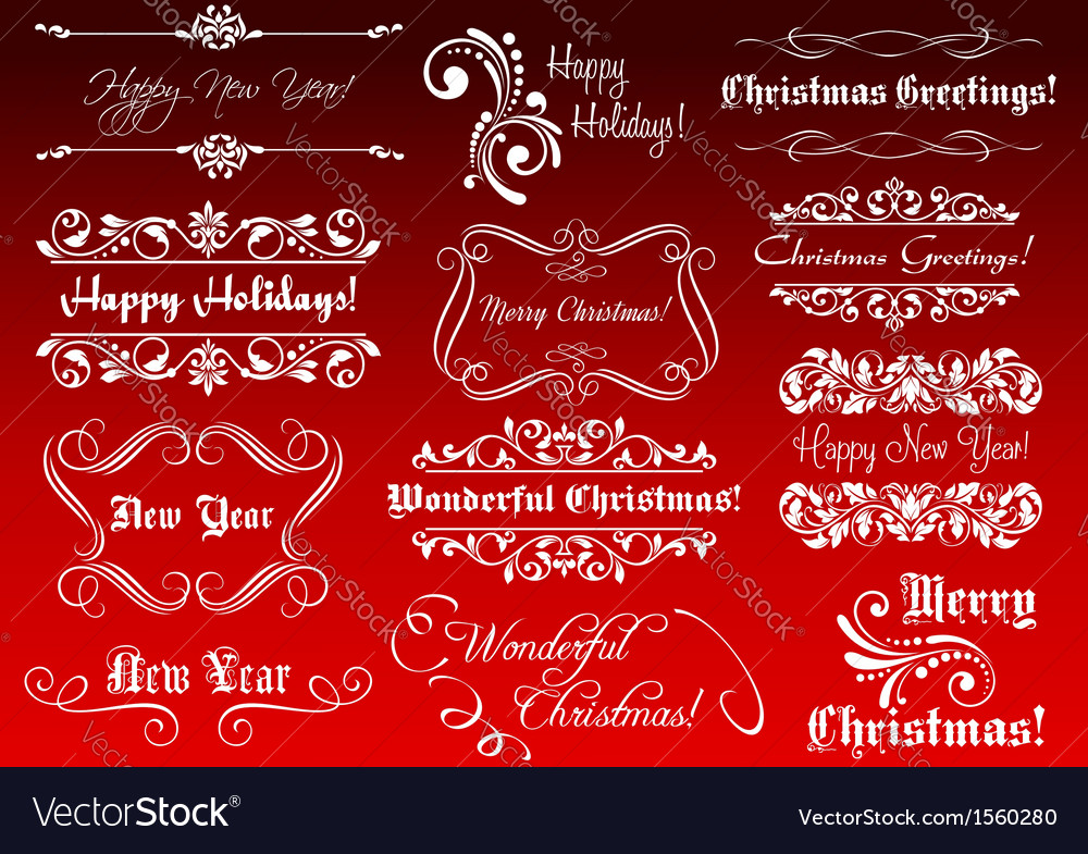 Winter holidays greetings and calligraphic vector image m4hsunfo