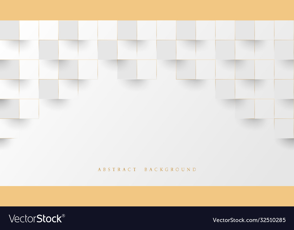 Abstract white luxury stacked box background