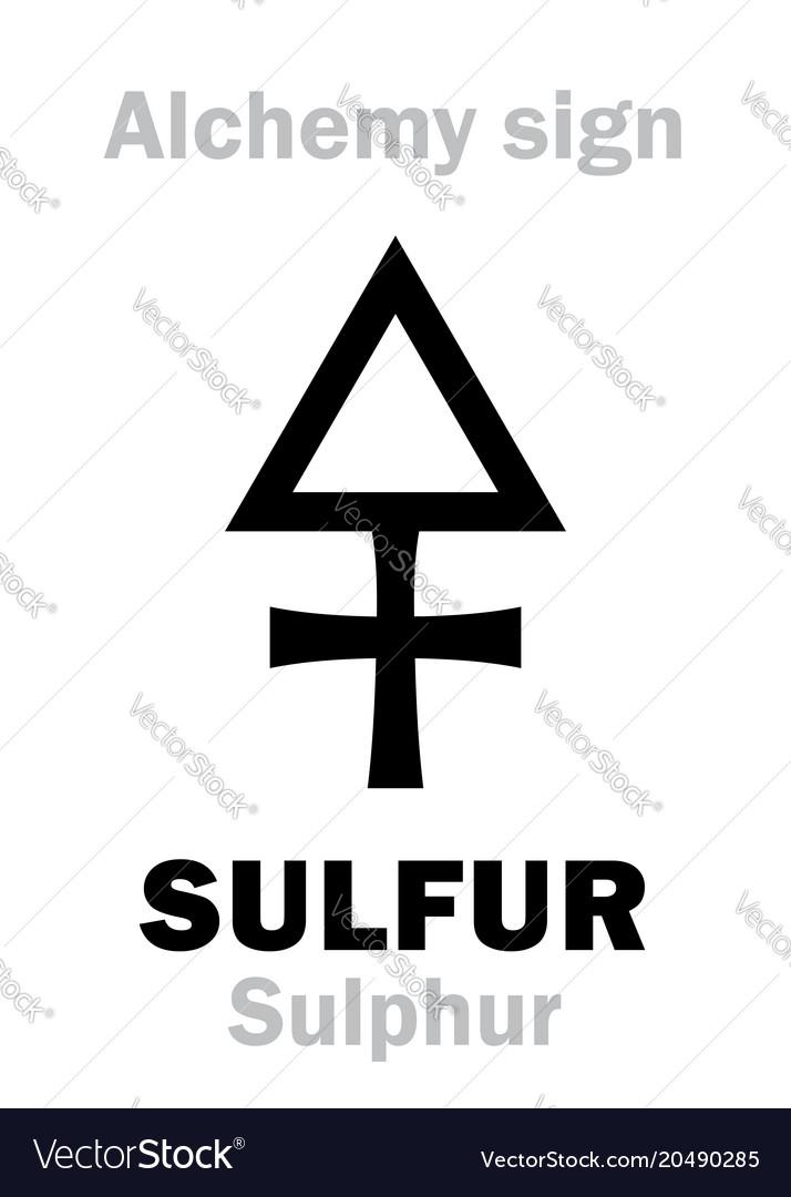 Alchemy Sulfur Sulphur Royalty Free Vector Image