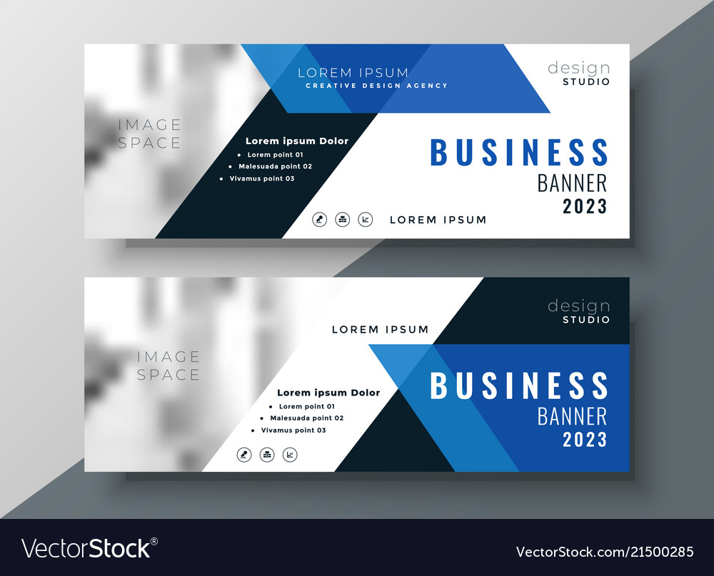 Professional Design Banners Deep Blue Banners