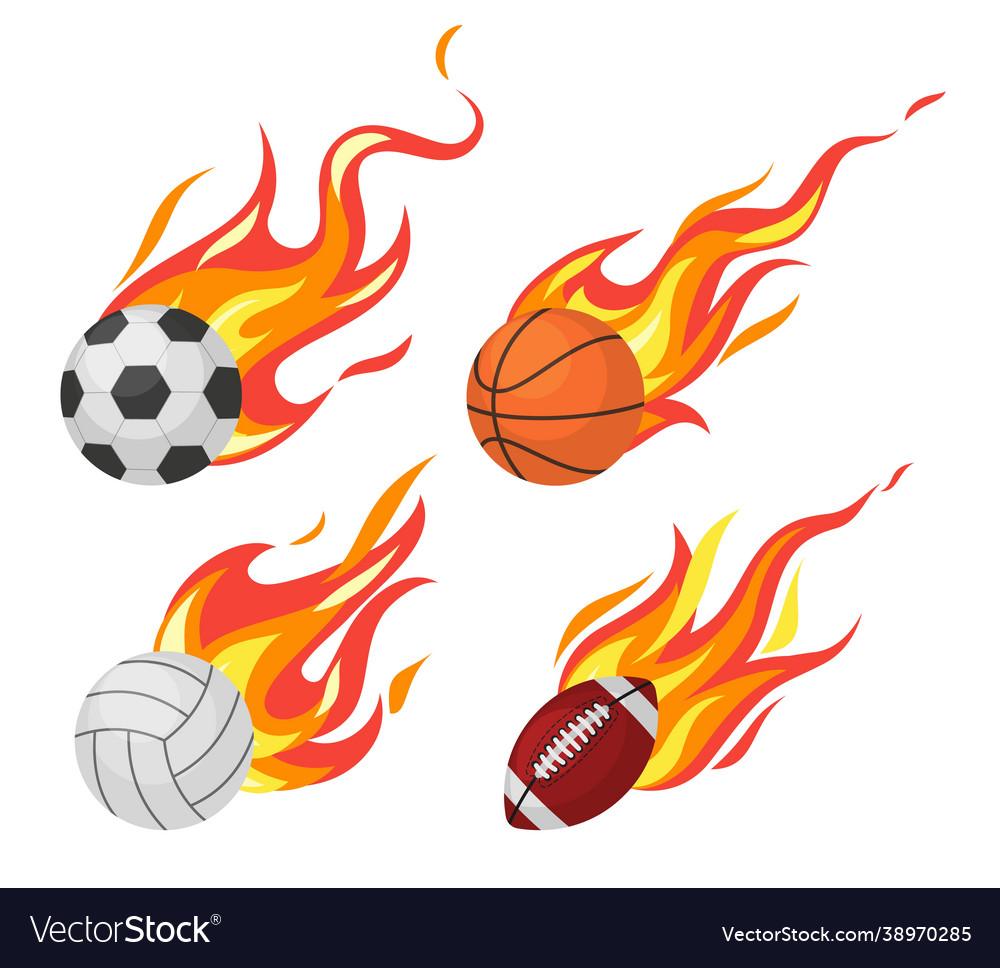 Burning balls football and volleyball basketball