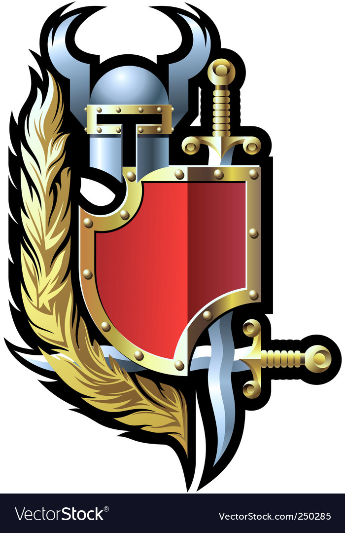 coat of arms with helmet royalty free vector image rh vectorstock com coat of arms vector download coat of arms vector download