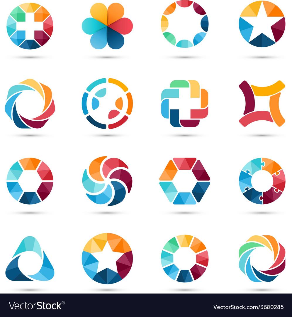 Logo set Circle signs and symbols