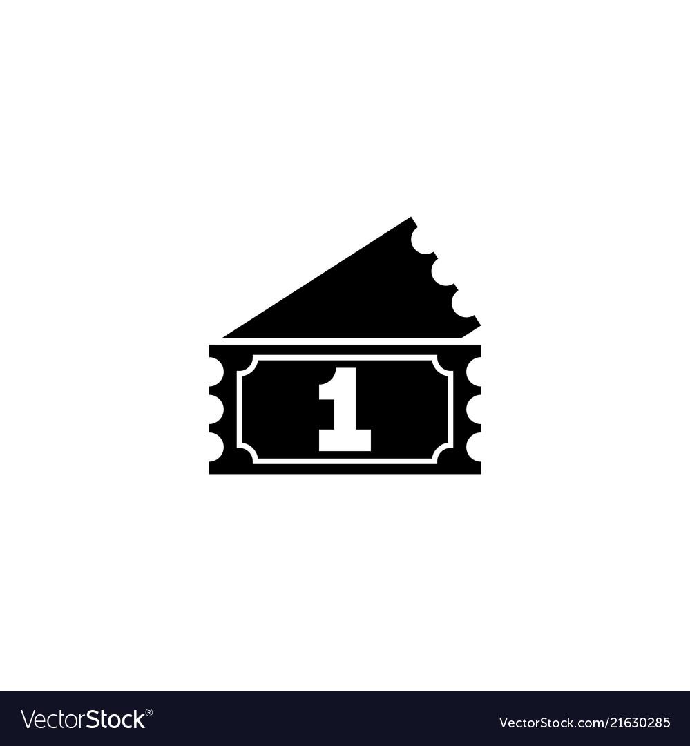 Raffle ticket flat icon