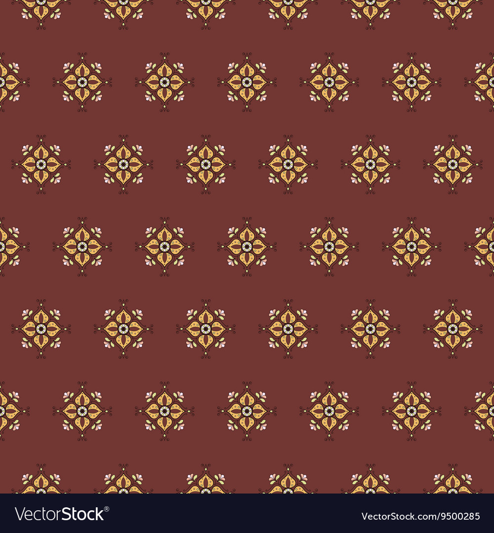 Seamless pattern on a red background