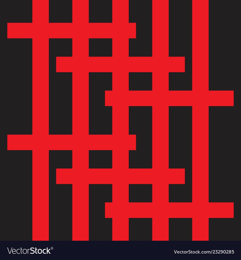 Simple flat crossing lines seamless pattern