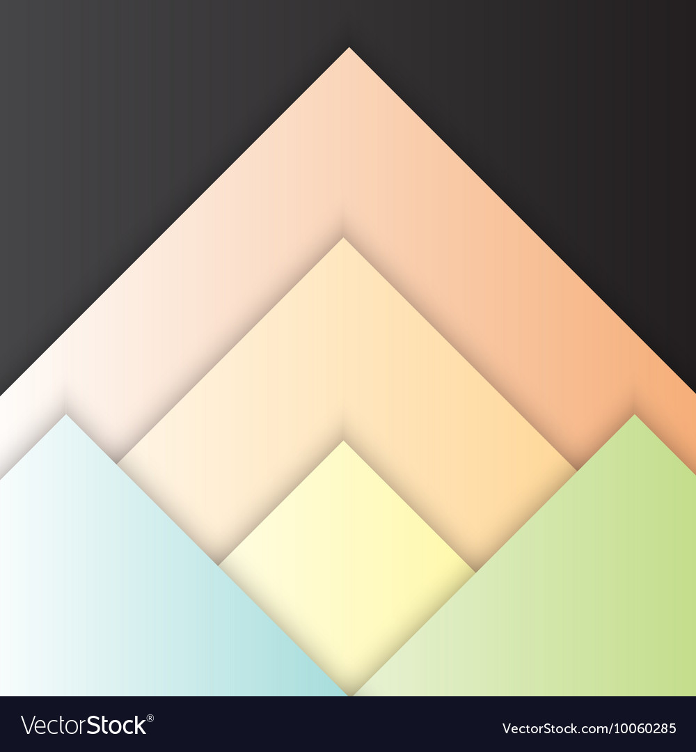 Triangle material design with shadow vector image