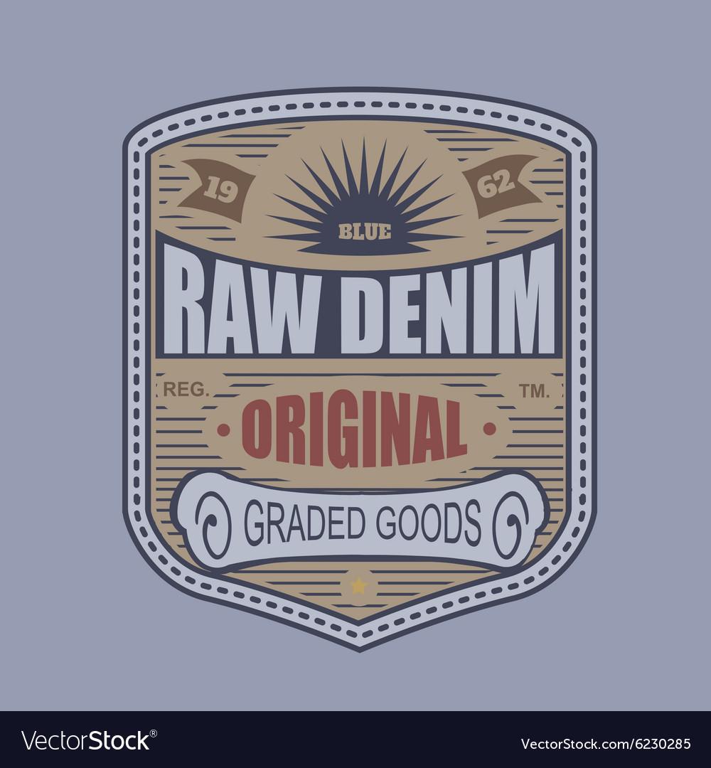 Vintage denim typography t-shirt graphics