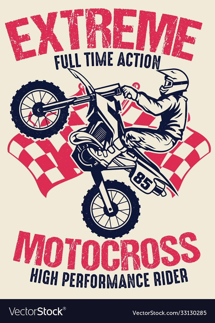 Vintage shirt design motocross