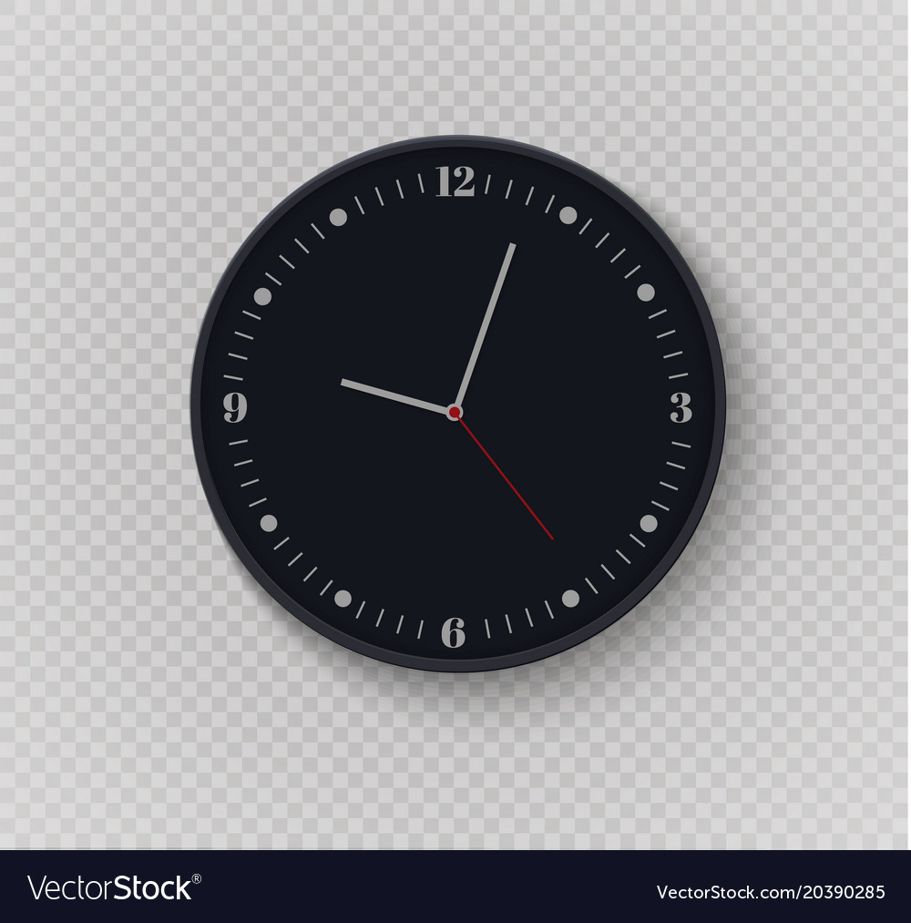 Wall clock office template design in Royalty Free Vector