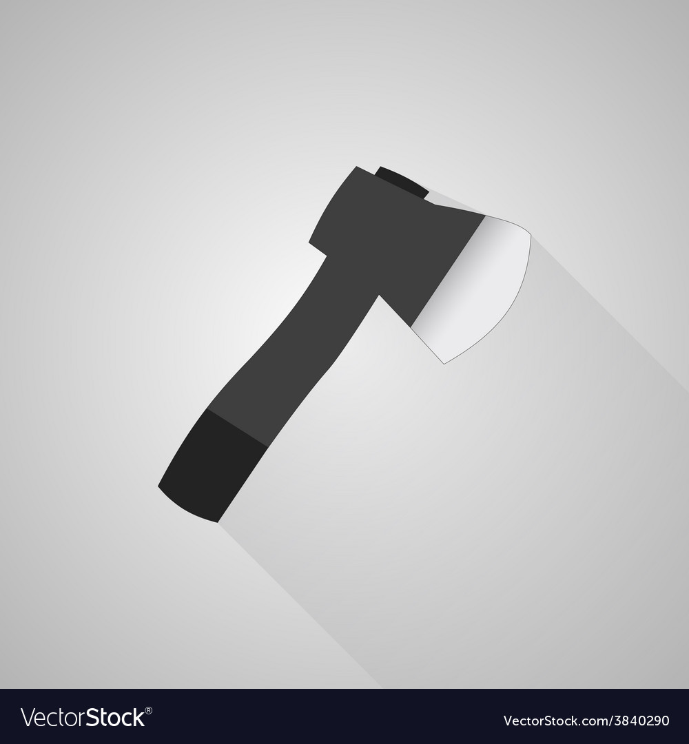 Axe icon on gray background