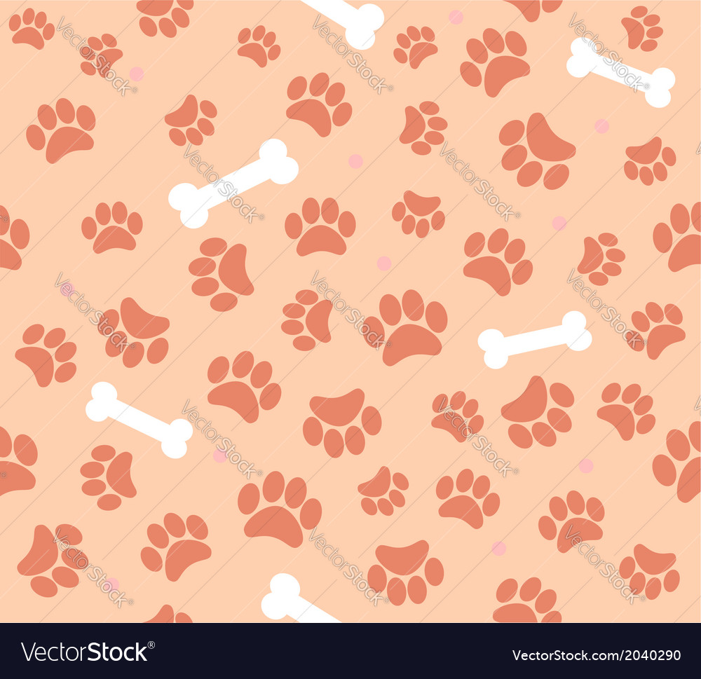 Background animal footprints