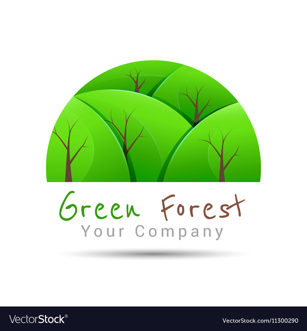 Concept graphic white abstract green tree forest