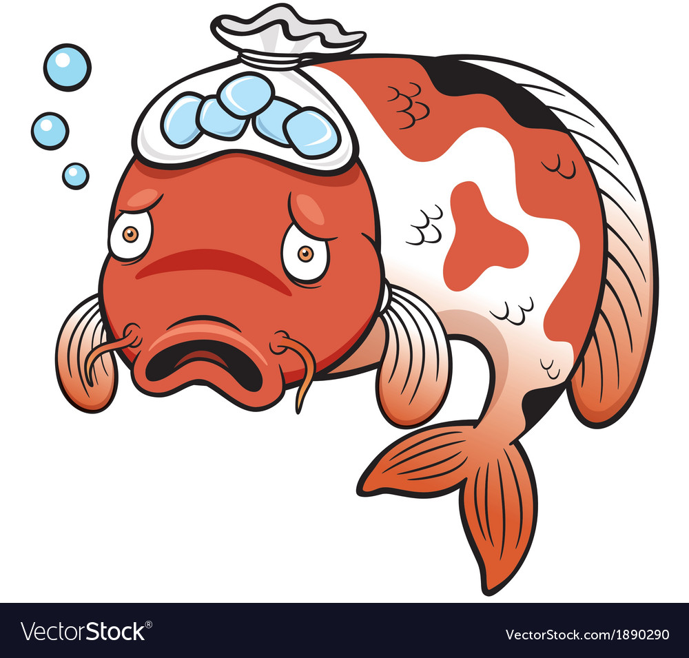 Fish sick Royalty Free Vector Image - VectorStock