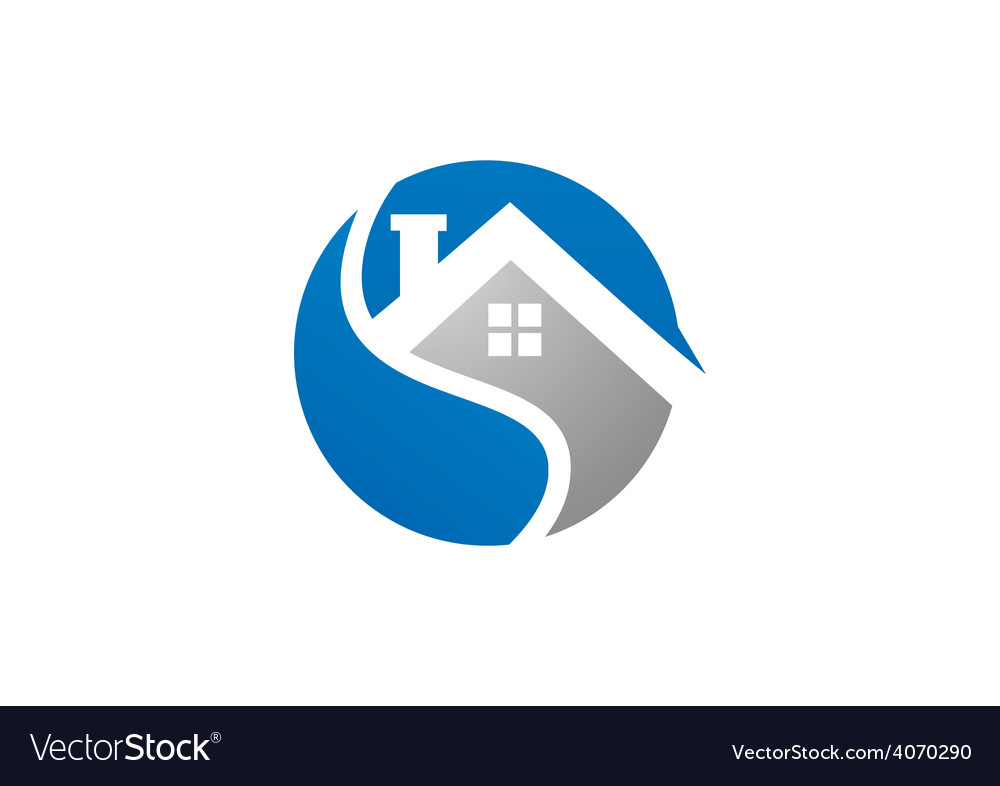 Home realty icon abstract logo