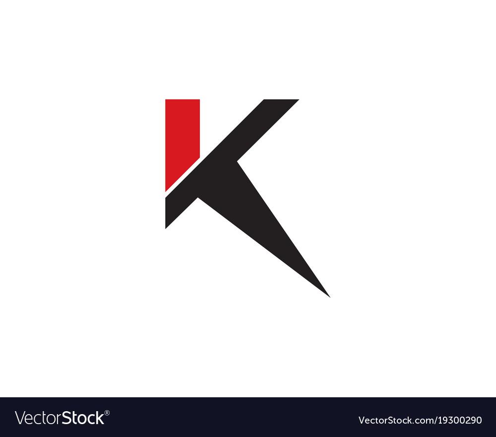 k letter logo template royalty free vector image