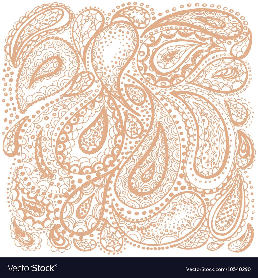 Mehndi ethnic doodle elements vector image