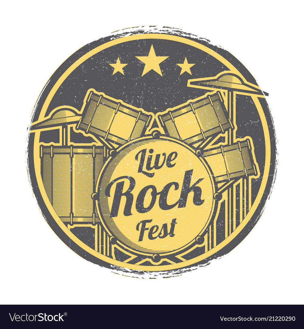 Rock festival grunge logo design