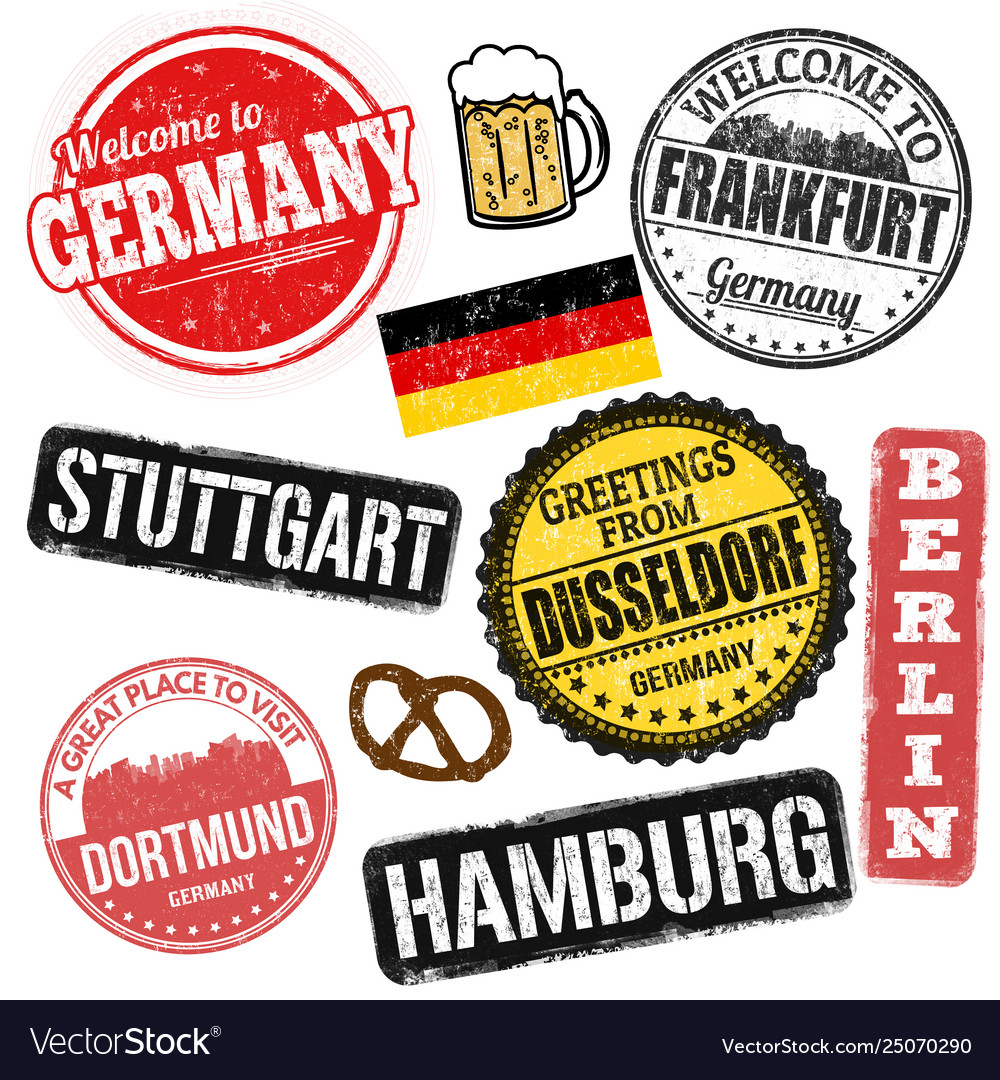 Set grunge stamps with germany