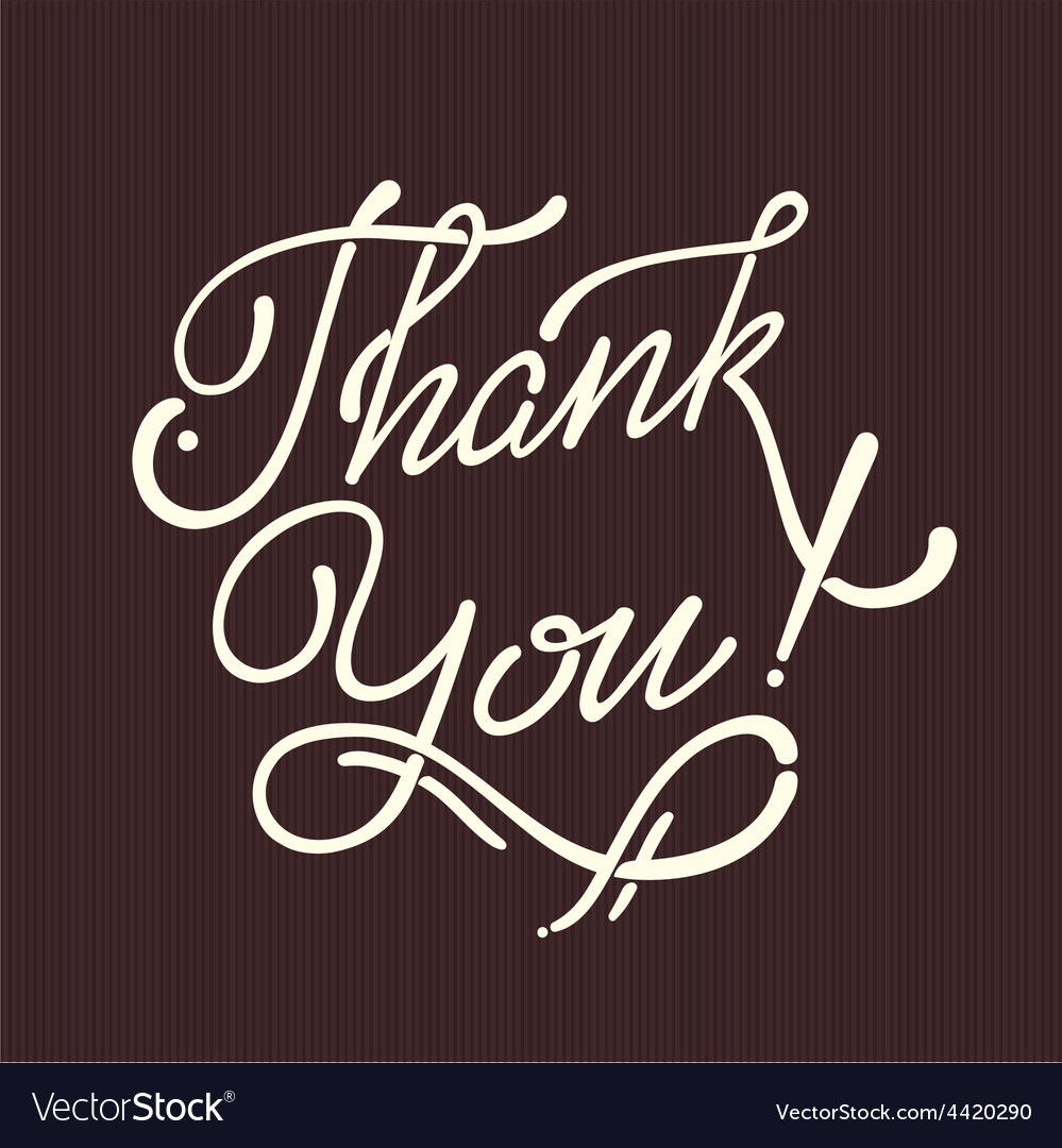 Thank You Hand lettering handmade