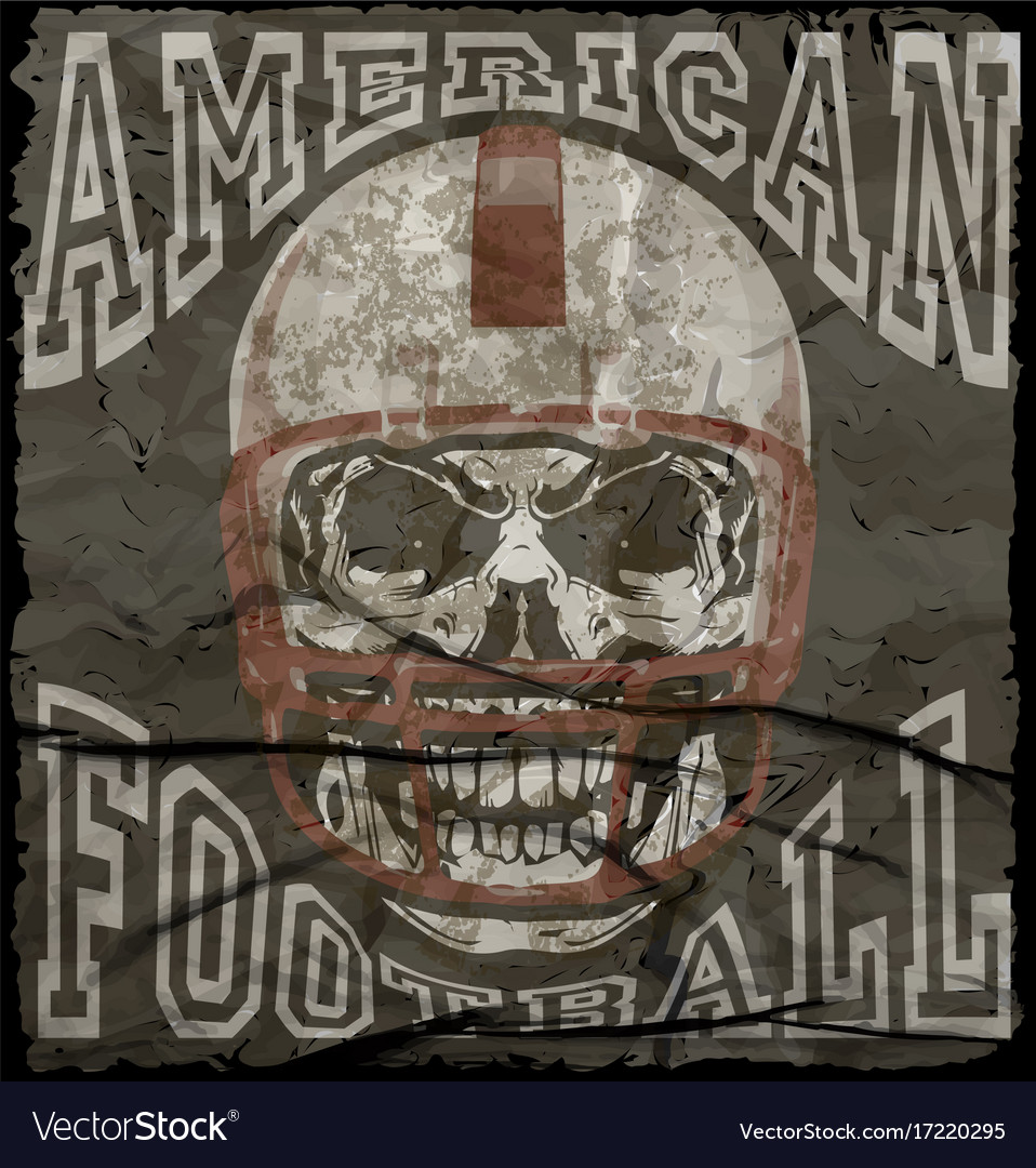 American football vintage print for boy