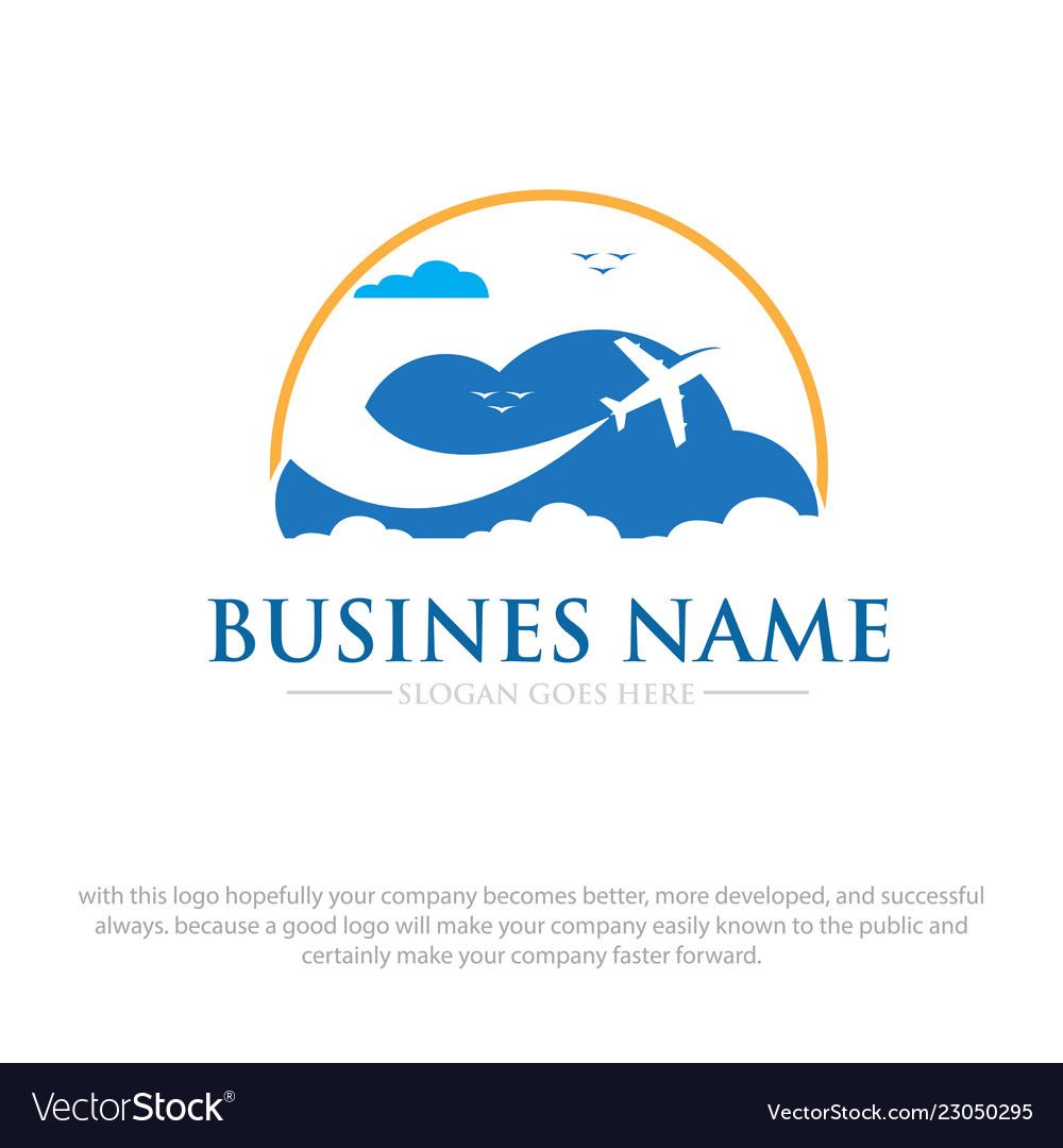 Business travel logo