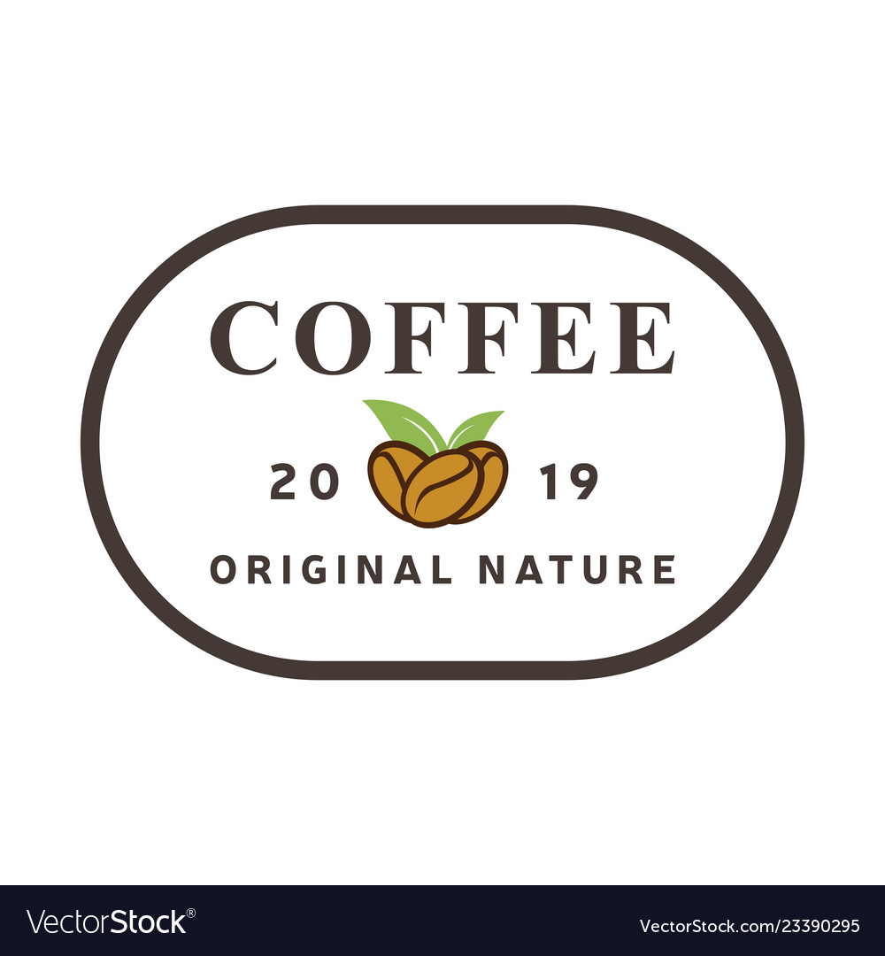 Coffee natural logo vintage label product