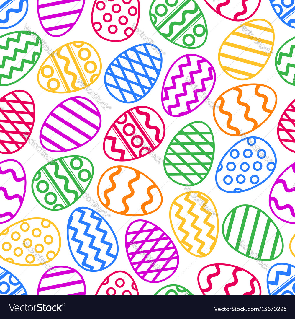Easter eggs colorful seamless pattern
