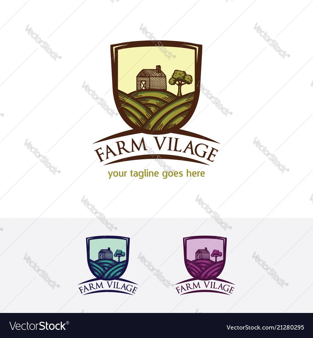 Farm village logo design