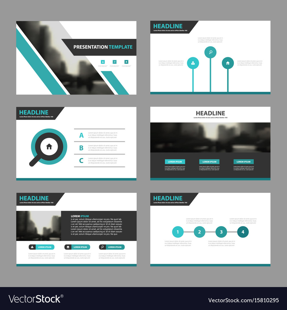 Green black business presentation templates
