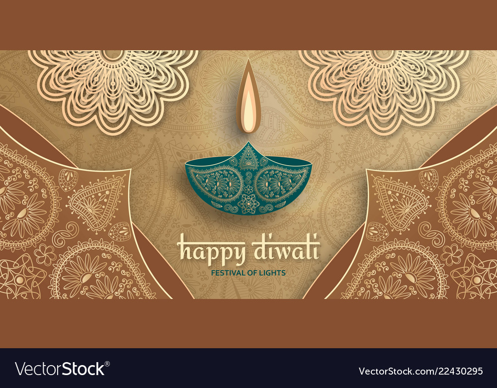 Greeting card for diwali festival celebration in