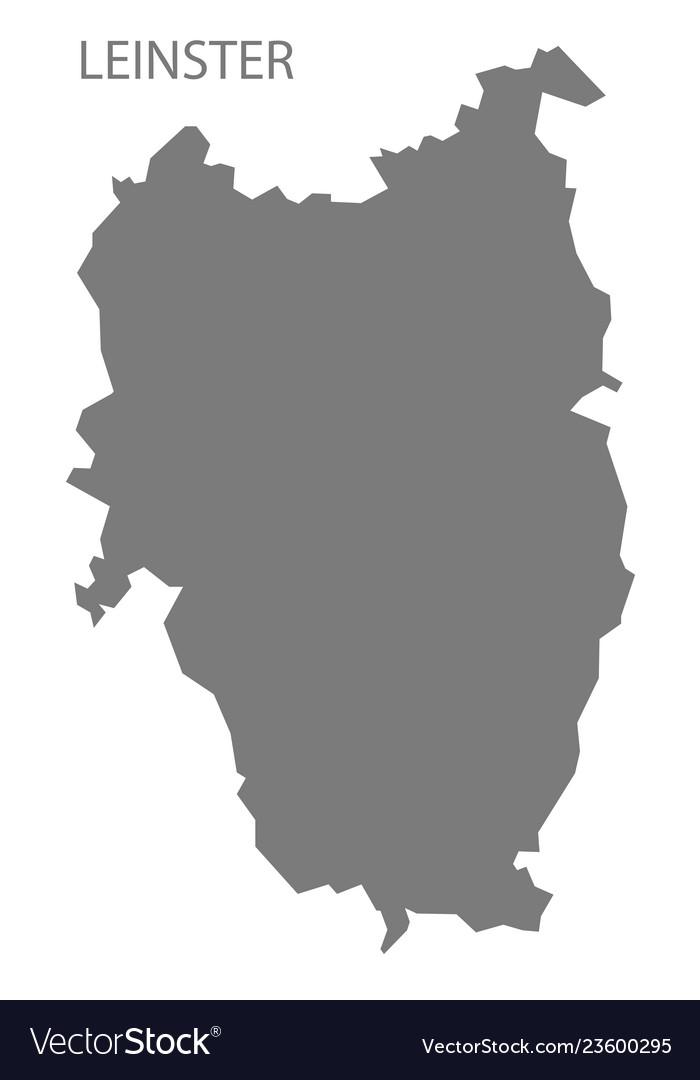 Map Of Ireland Vector.Leinster Ireland Map Grey