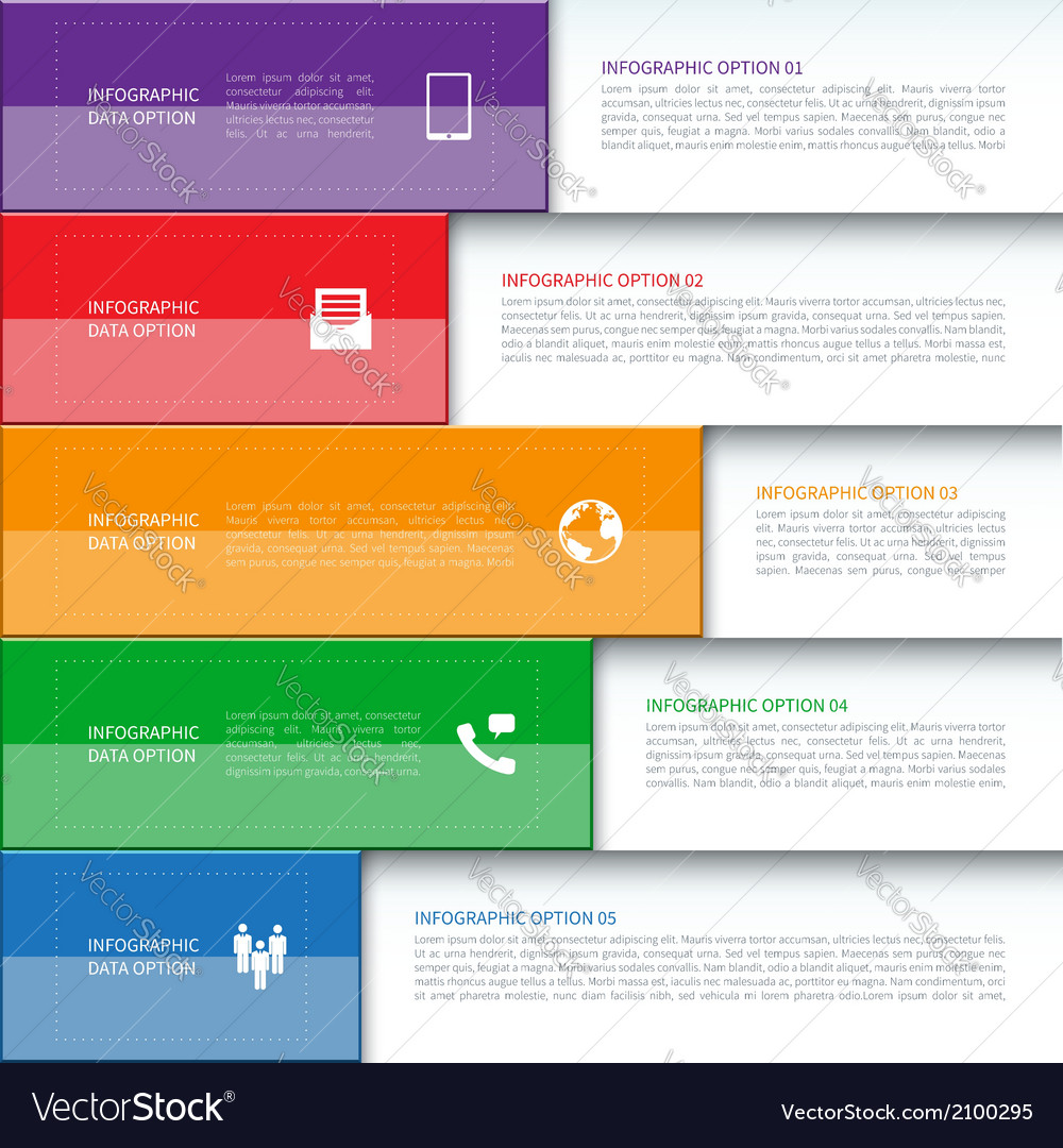 Modern Business Infographics Banner vector image