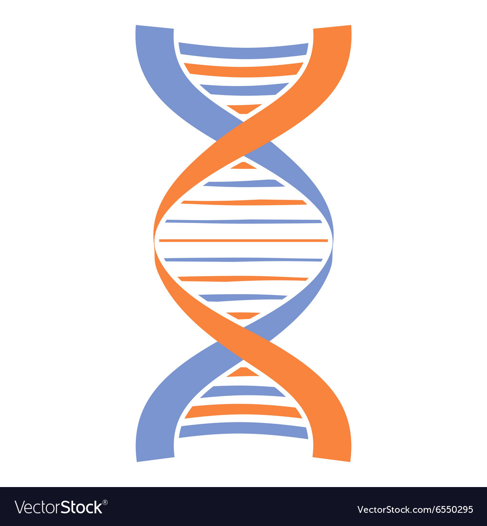 New DNA and molecule icon